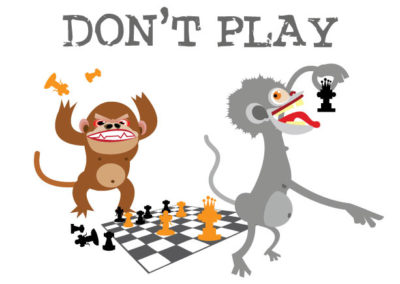 Illustration: Monkeys Don't Play Chess