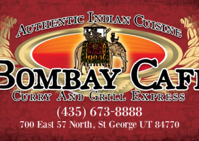 Print: Business card for Bombay Cafe