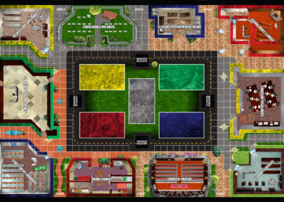 Game Map: game board