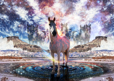 Photomontage: Winter Horses