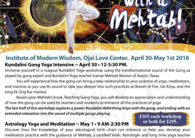 Flyer: A Weekend with Mehtab