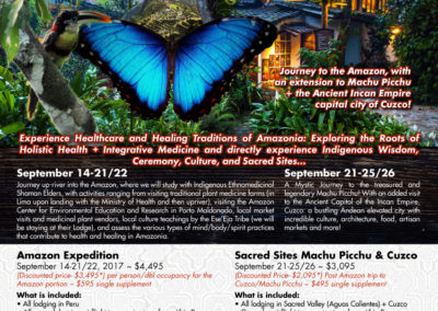 Flyer: Journey to the Amazon!