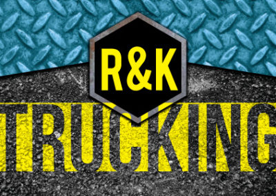 Print: Business card design for R&K Trucking