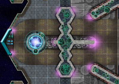 Game Map: Spaceship room