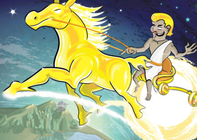 Illustration: Apollo on his solar chariot