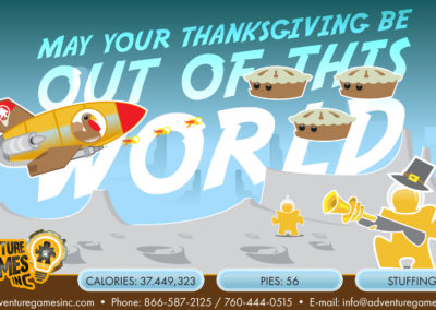 Illustration: Thanksgiving In Space