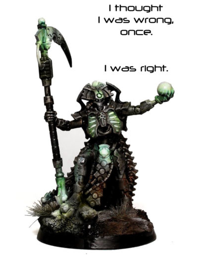 Necron Overlord Admision