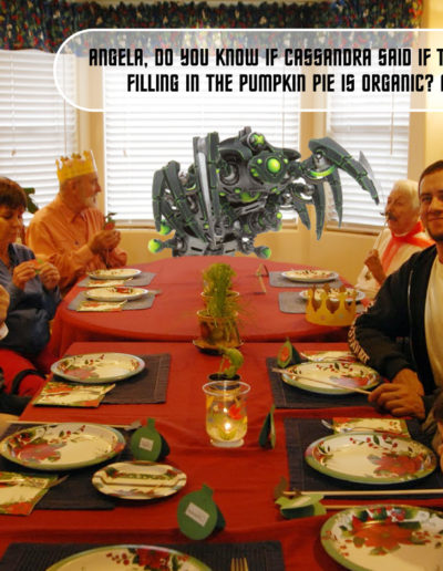 Wraithposting: dinner party